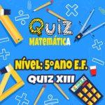 Matemática – 5º Ano EF – 13