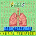 Caça-palavras Sistema respiratório