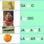 Completar Letra Faltante da Palavra – Consoantes