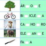 Completar Letra Faltante da Palavra – Consoantes + Alfabeto