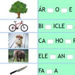 Completar Letra Faltante da Palavra – Vogal