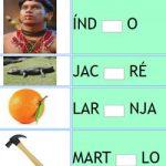 Completar Letra Faltante da Palavra – Vogal + Alfabeto