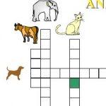 Cruzadinha dos animais