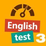 English test 3
