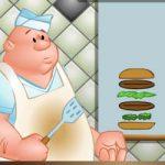 Montando hambúrguer