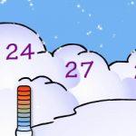 Números na neve