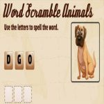 Palavras embaralhadas dos animais (inglês)