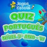 Quiz português 5º ano VI