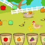 Relacione frutas da fazenda