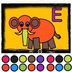 Letras para colorir (Inglês)