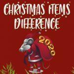 Diferenças de itens de Natal